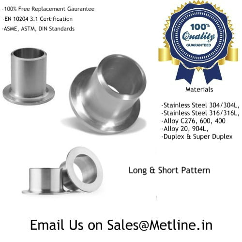 Nickel Alloy Stub Ends - Inconel, Monel, Hastelloy, Incoloy Tubes Manufacturers, Suppliers, Factory